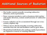 additional sources of radiation