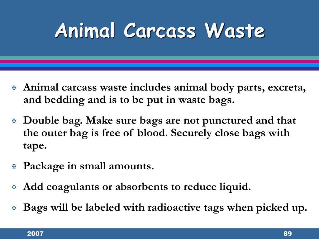 Animal Carcass Waste
