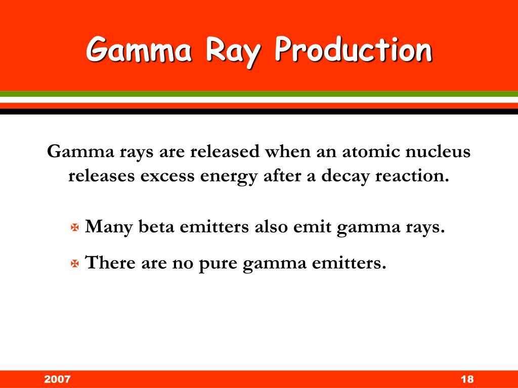 Gamma Ray Production