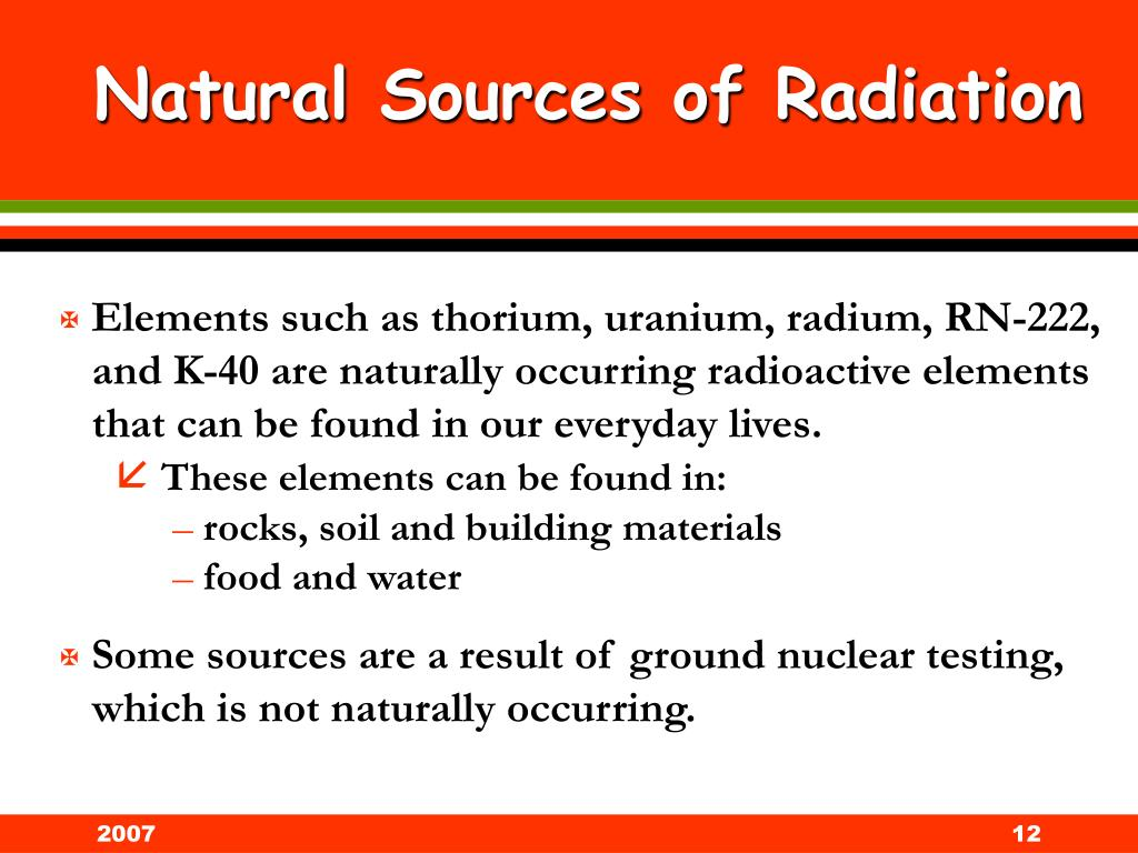 Natural Sources of Radiation