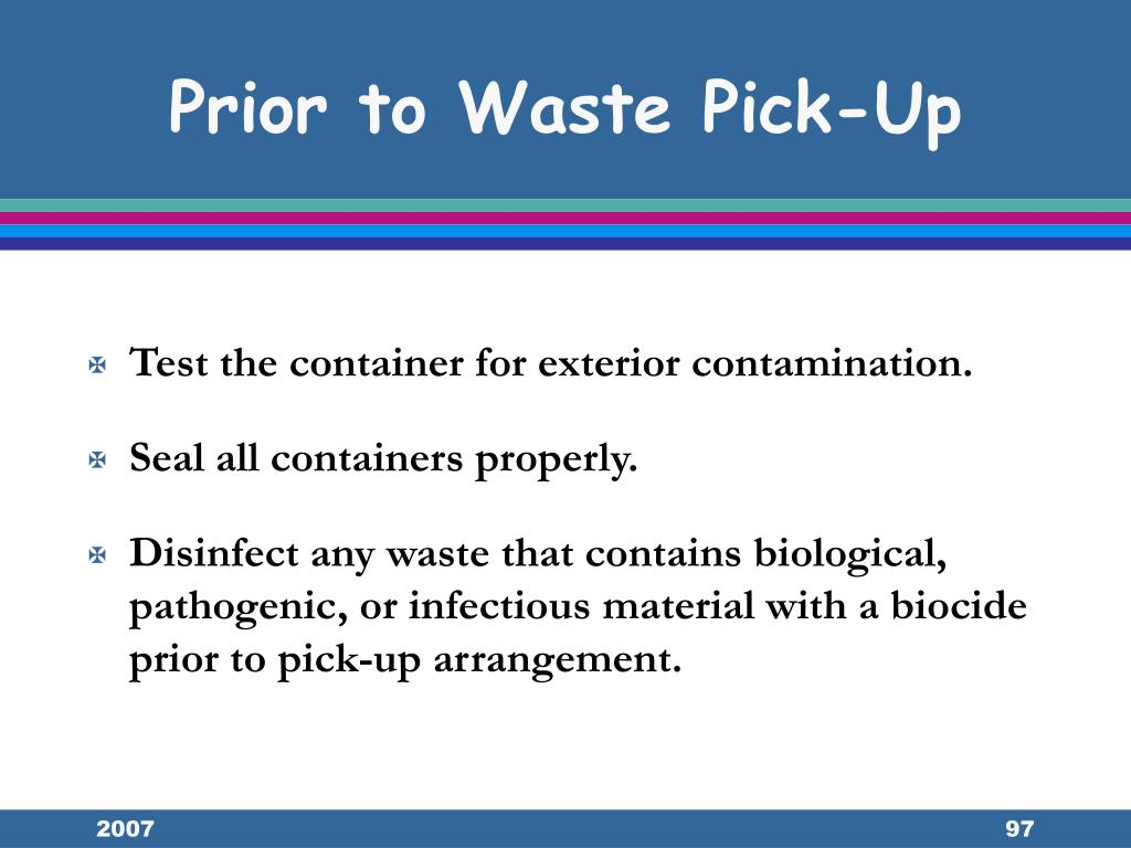 Prior to Waste Pick-Up