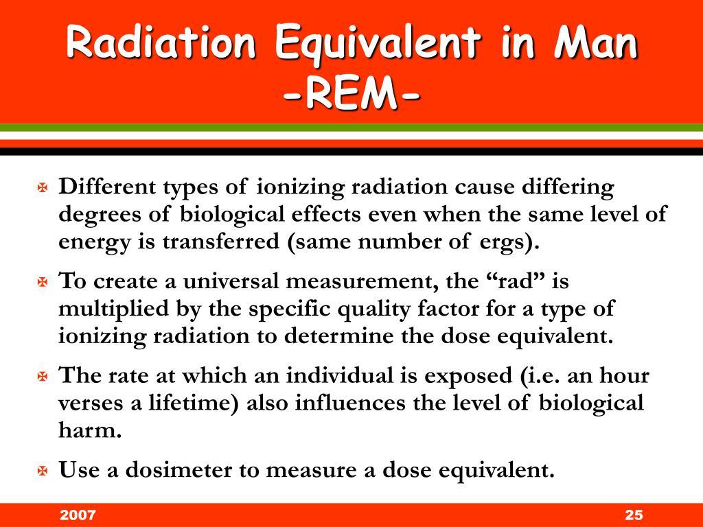 Radiation Equivalent in Man