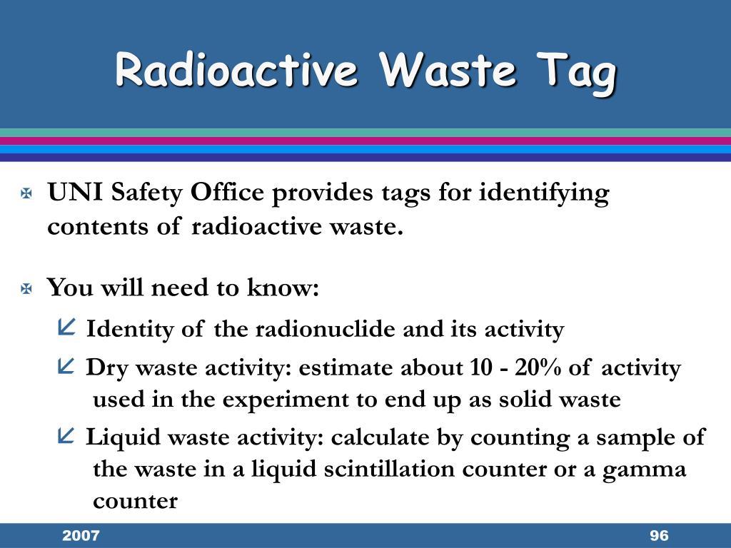 Radioactive Waste Tag