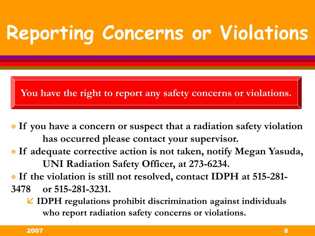 Reporting Concerns or Violations