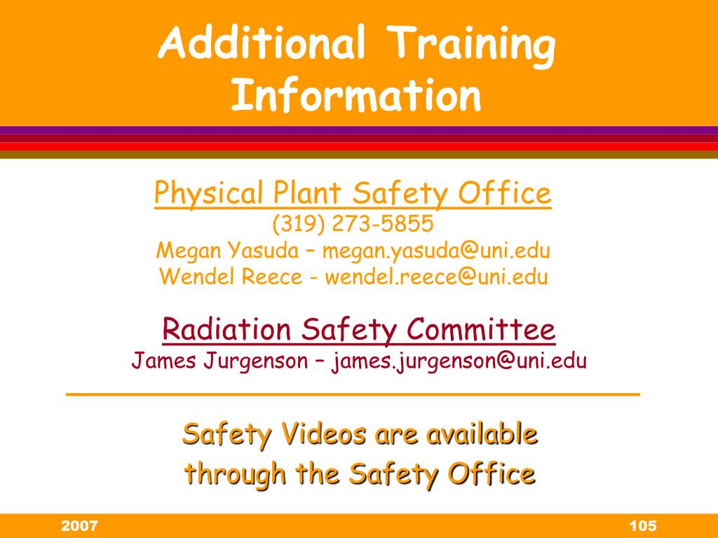 Safety Videos are available