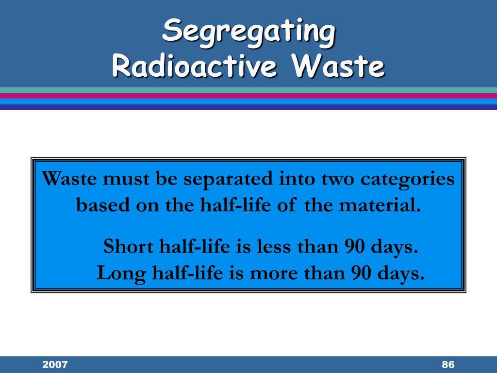 Segregating