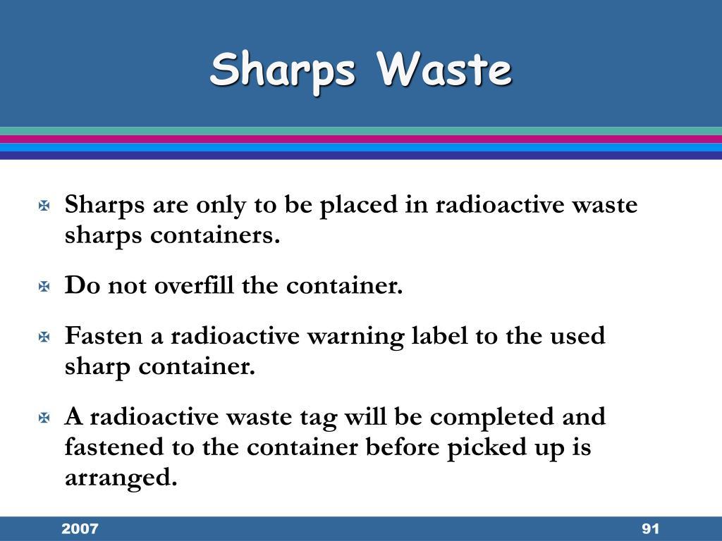 Sharps Waste