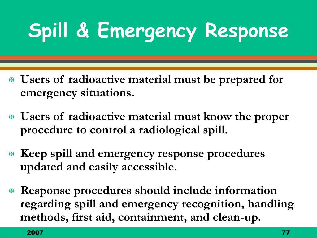 Spill & Emergency Response