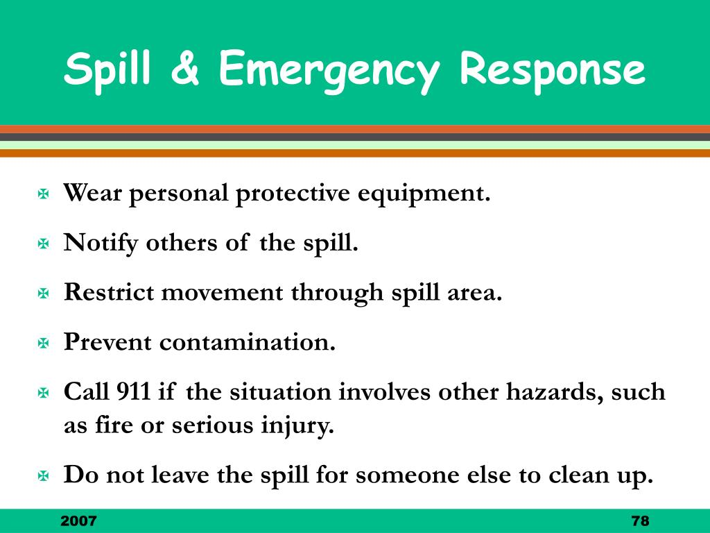 Wear personal protective equipment.