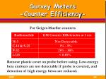 survey meters counter efficiency