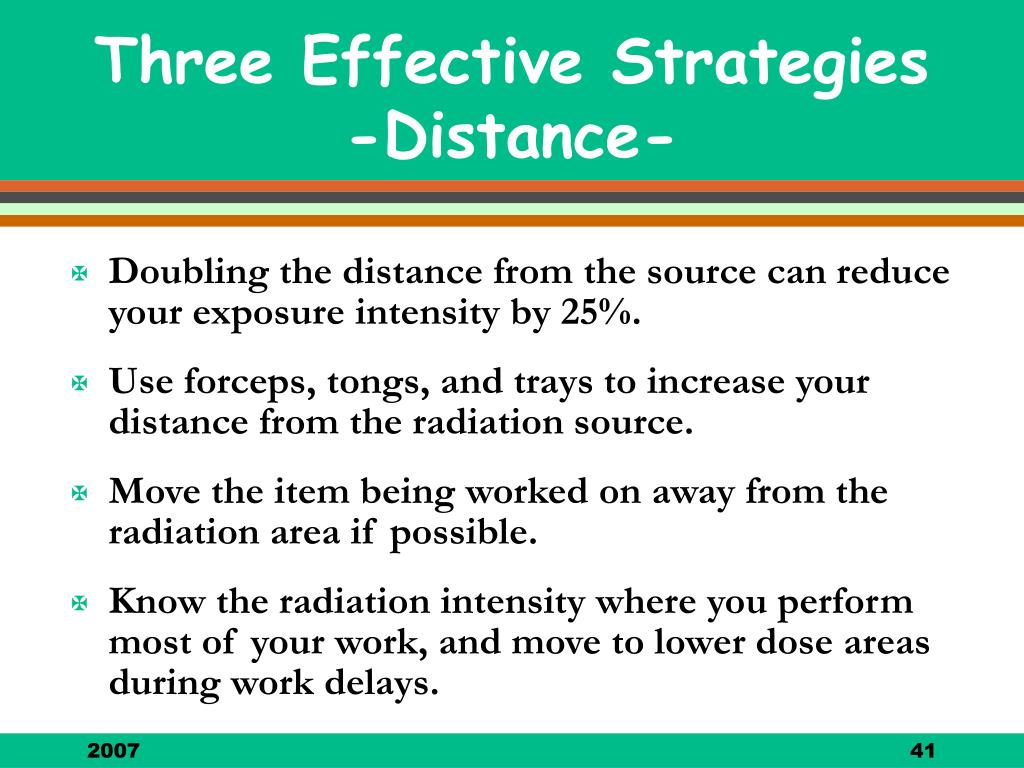 Three Effective Strategies -Distance-