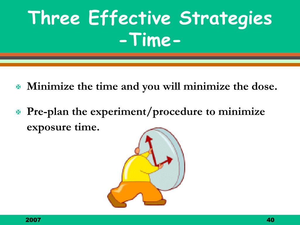 Three Effective Strategies -Time-