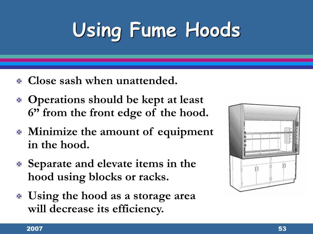 Using Fume Hoods