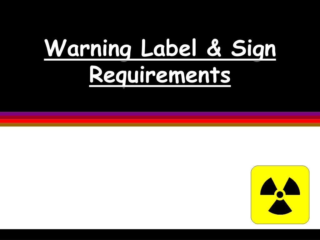 Warning Label & Sign