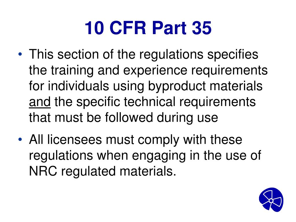 10 CFR Part 35