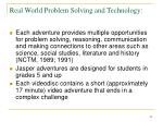 real world problem solving and technology22