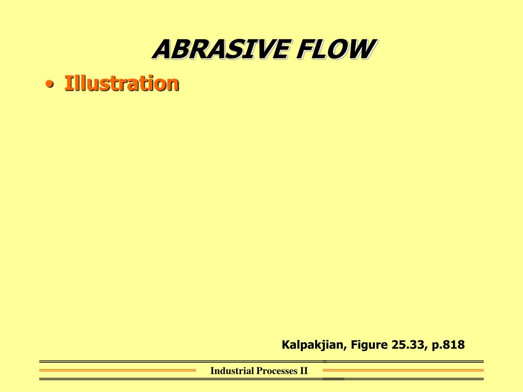 ABRASIVE FLOW