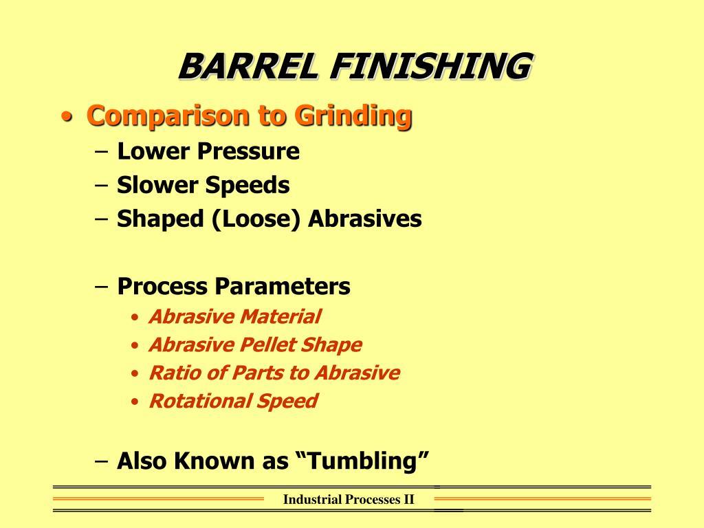 BARREL FINISHING