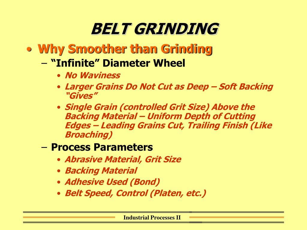BELT GRINDING