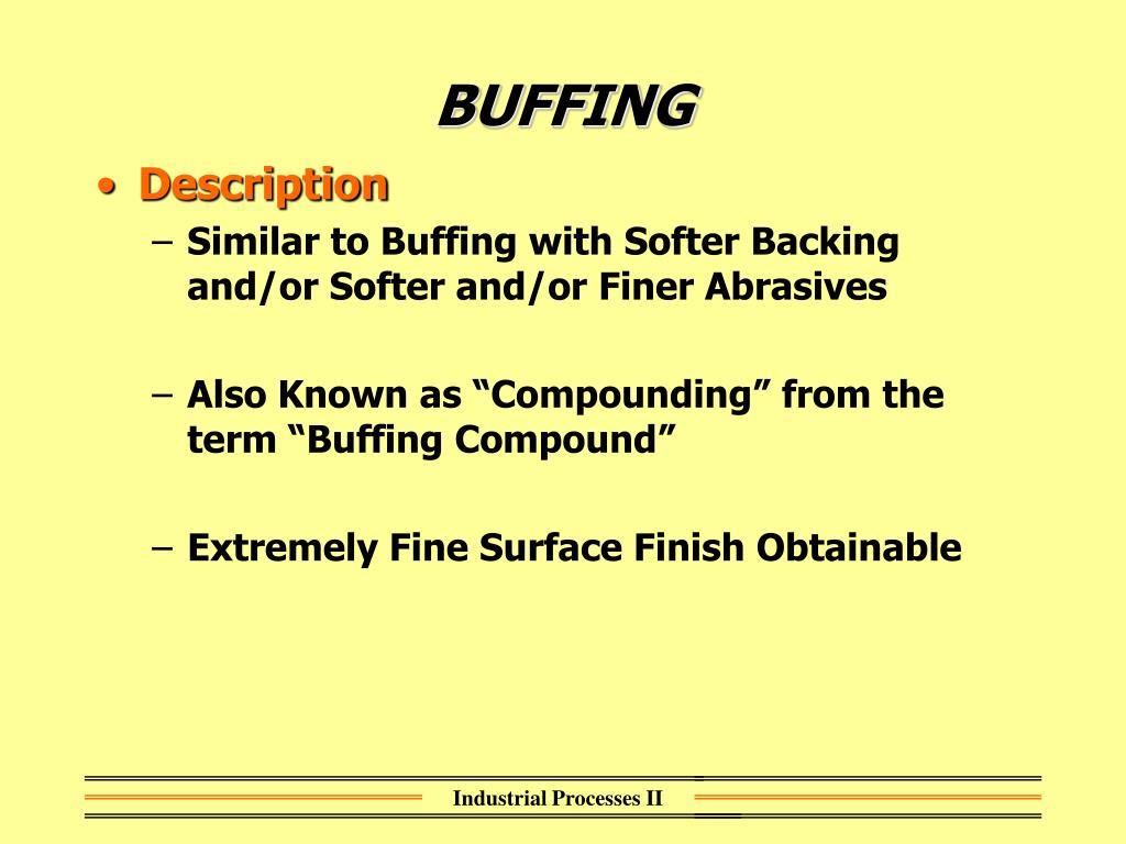 BUFFING