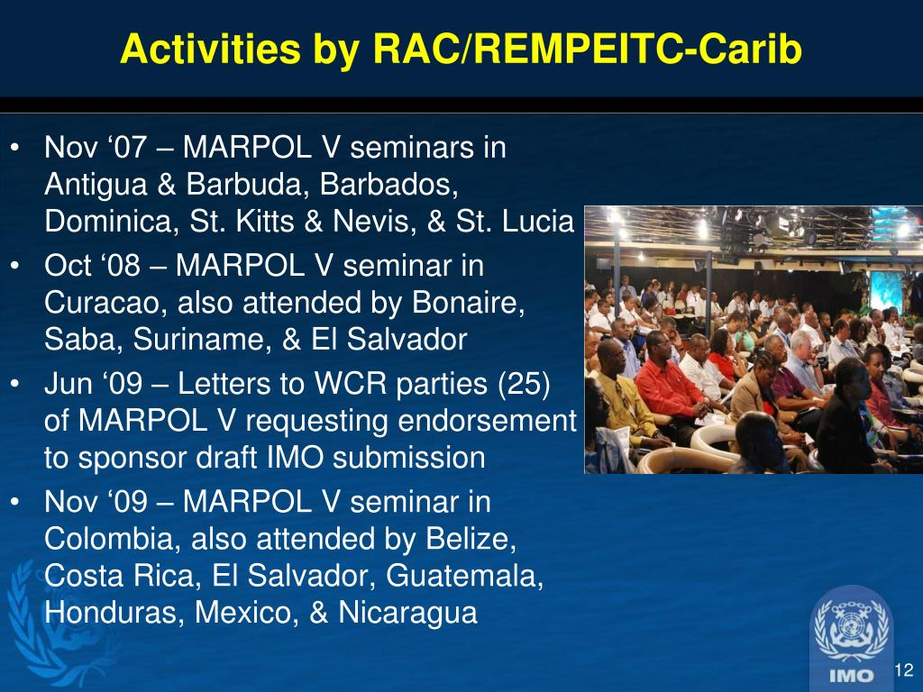 Activities by RAC/REMPEITC-Carib