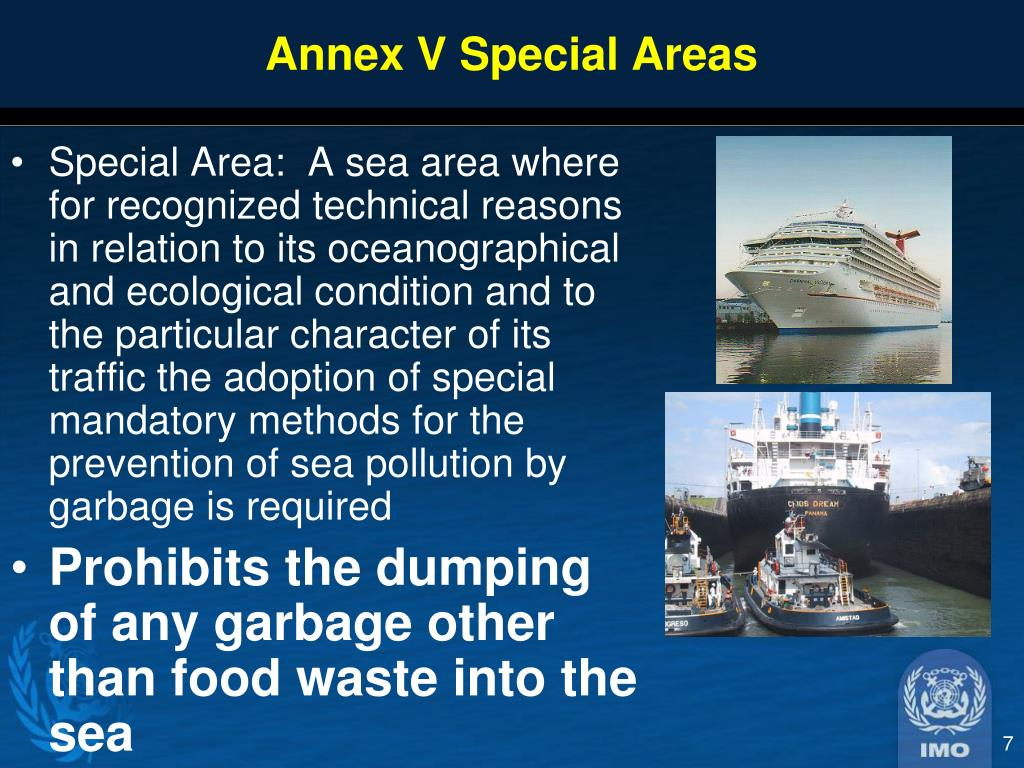 Annex V Special Areas
