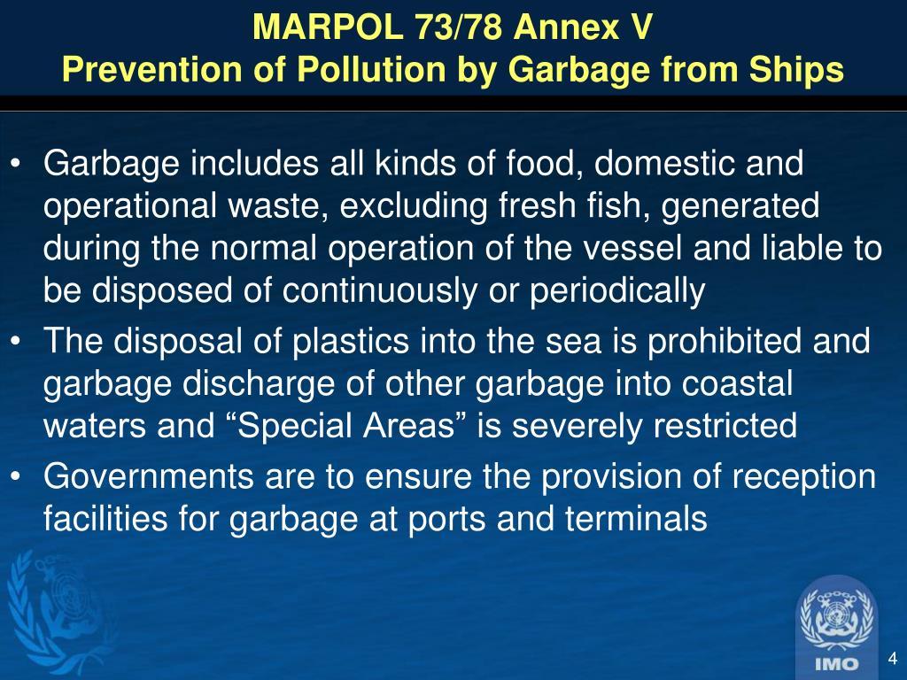 MARPOL 73/78 Annex V