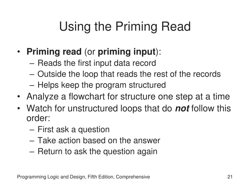 Using the Priming Read
