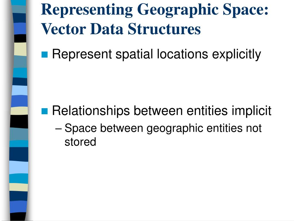 Representing Geographic Space:  Vector Data Structures