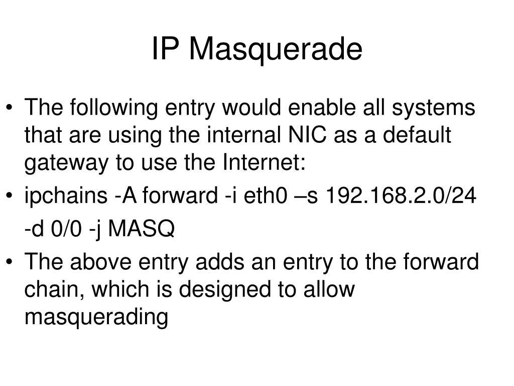 IP Masquerade