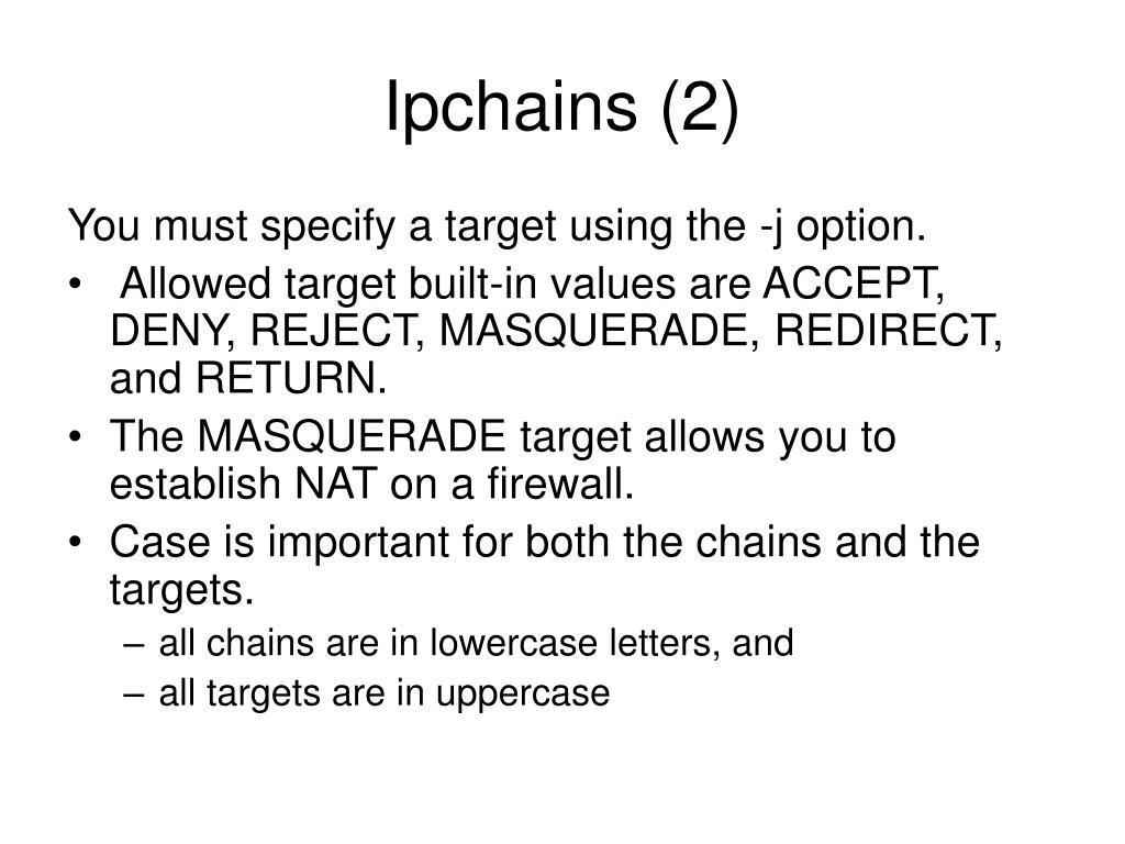 Ipchains (2)