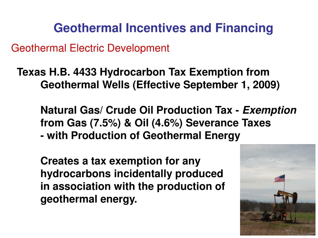 Geothermal Incentives and Financing