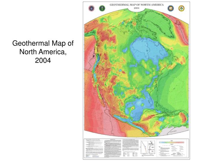 Geothermal Map of North America, 2004