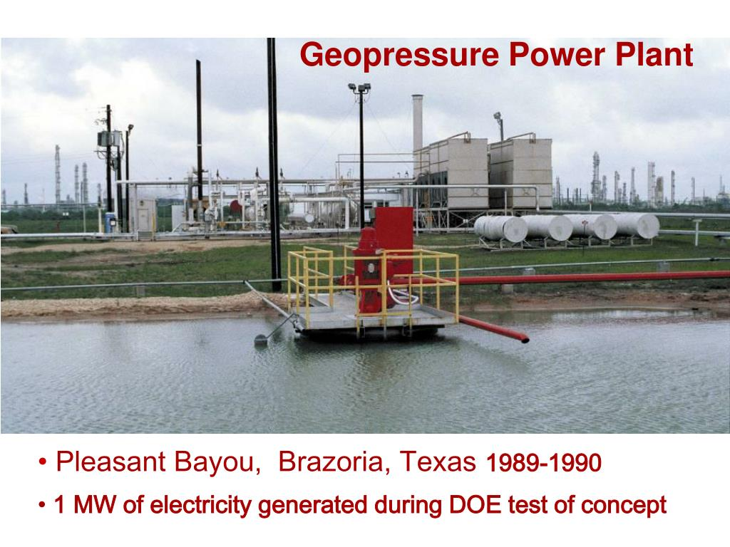 Geopressure Power Plant