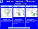 northern hemisphere monsoons current status
