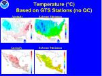 temperature c based on gts stations no qc14