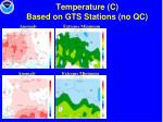 temperature c based on gts stations no qc30