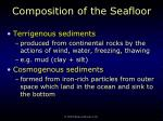composition of the seafloor36