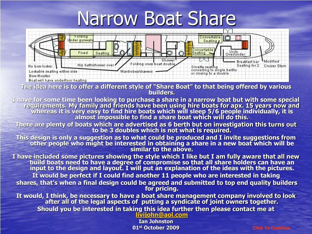 narrow boat share