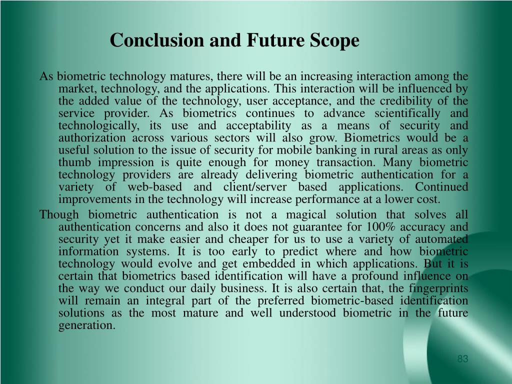 Conclusion and Future Scope