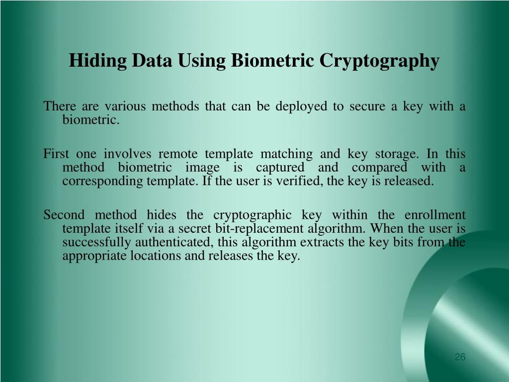 Hiding Data Using Biometric Cryptography