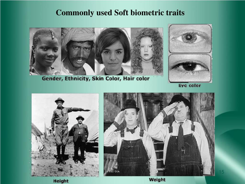 Commonly used Soft biometric traits