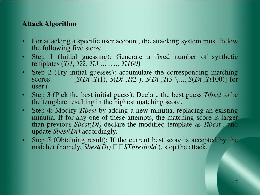 Attack Algorithm