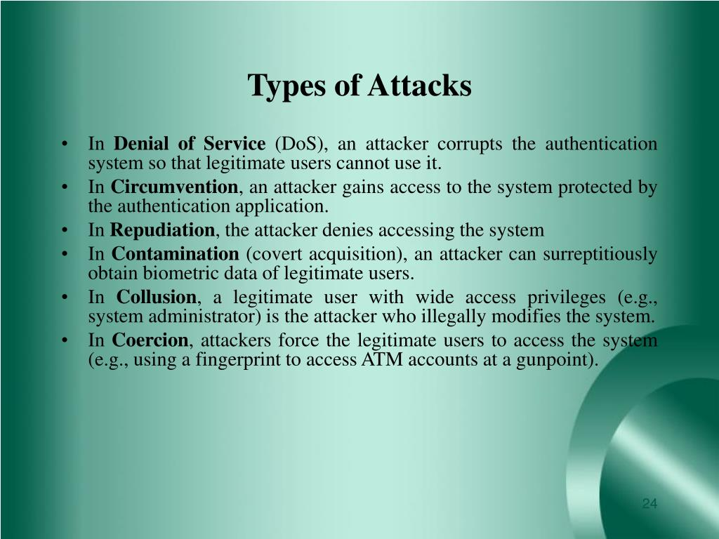 Types of Attacks