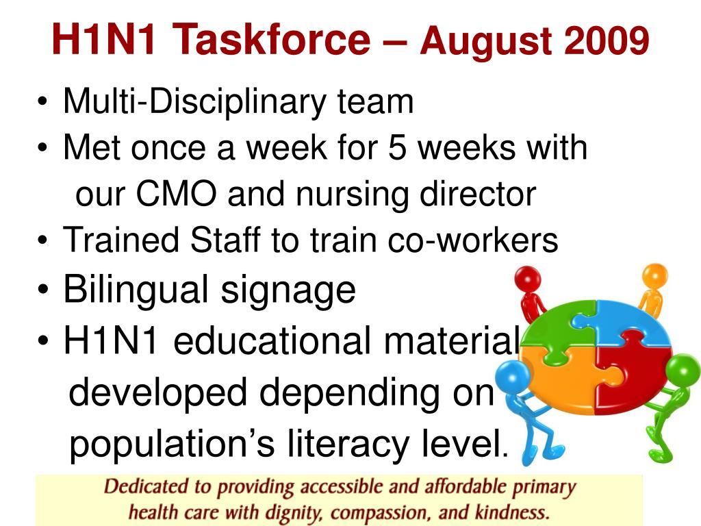 H1N1 Taskforce –