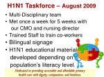 h1n1 taskforce august 2009