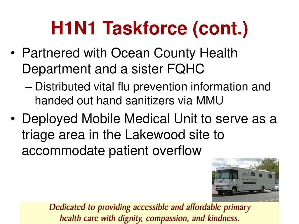 H1N1 Taskforce (cont.)