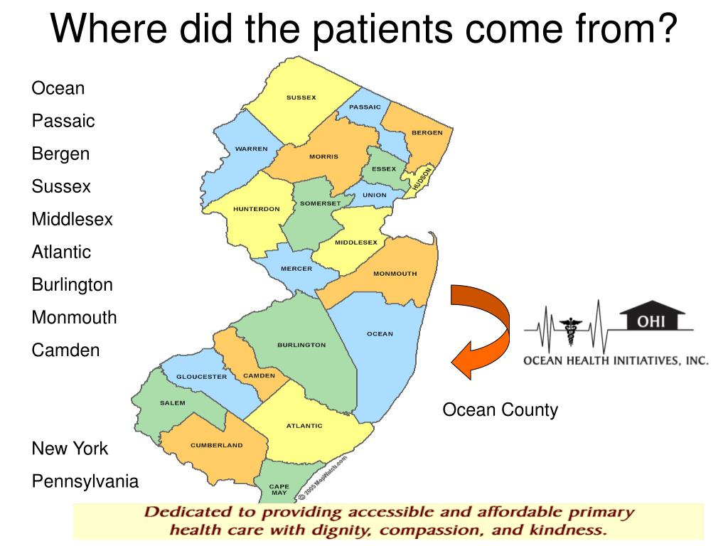 Where did the patients come from?