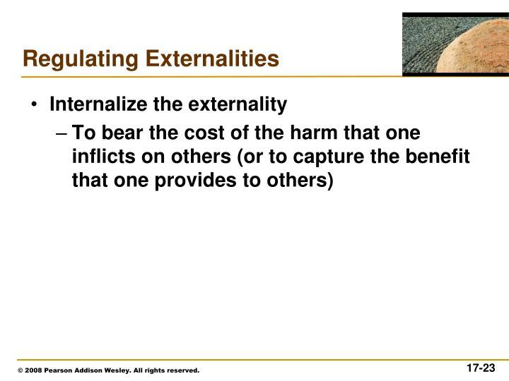 Internalize the externality