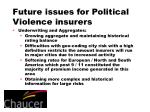 future issues for political violence insurers13